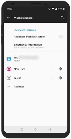 Add Guest User On Android Device